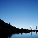 Moonset Over Twin Lakes by Jared Manninen