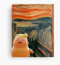 Trump Baby & The Scream Metal Print