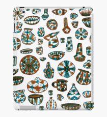 Turquoise Pottery on White iPad Case/Skin