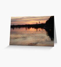 Sunset July 17, 2009 Greeting Card