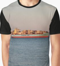 New York City, ship, container ship, water, #NewYorkCity, #ship, #ContainerShip, #water Graphic T-Shirt
