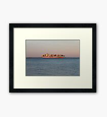 New York City, ship, container ship, water, #NewYorkCity, #ship, #ContainerShip, #water Framed Print