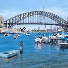 View from Lavender Bay, Sydney Harbour by Freda Surgenor