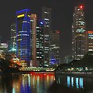 Singapore's Night by Adri  Padmos