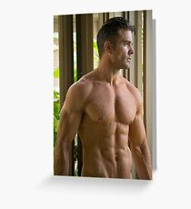 Andrew wet torso Greeting Card
