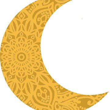 Mandala Yellow Moon by aterkaderk