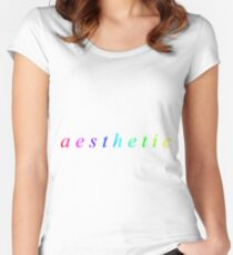 aesthetic Women's Fitted Scoop T-Shirt