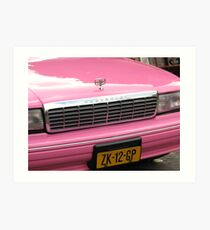 Pink Chevrolet in The Hague Art Print
