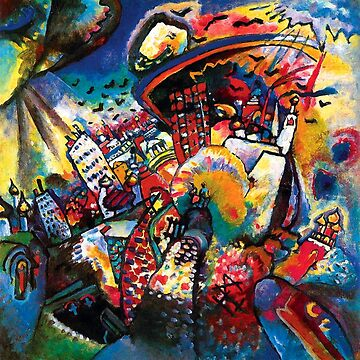 Wassily Kandinsky Moscow Cityscape Abstract Modern Art by Jeffest