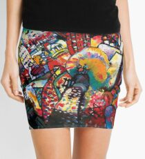 Wassily Kandinsky Moscow Cityscape Abstract Modern Art Mini Skirt