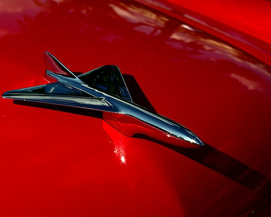 1956 Ford Sunliner Hood Ornament by TeeMack