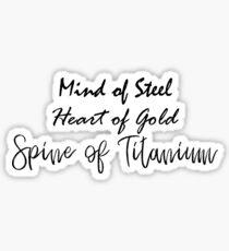 Spine of Titanium Sticker
