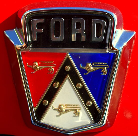 1956 Ford Sunliner Trunk Emblem by TeeMack