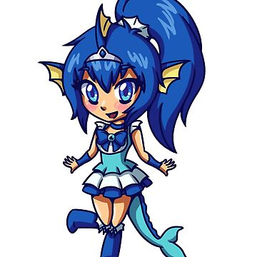 Vaporeon Magical Girl Chibi by LankySandwich