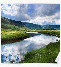 Reflection in Glen Esk Poster