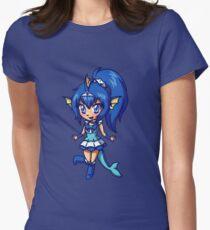 Vaporeon Magical Girl Chibi Women's Fitted T-Shirt