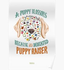 A Puppy Blossoms Poster