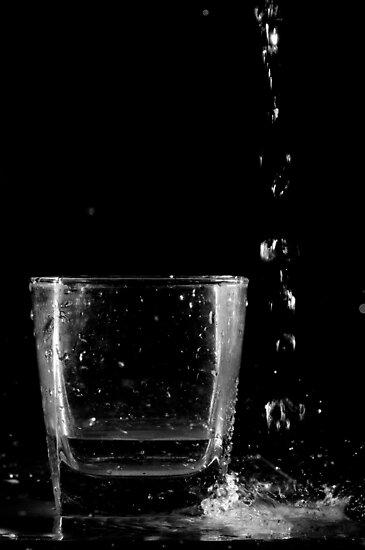 glass and water by Yuriy Netesov