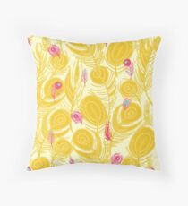 Bright Feathers Throw Pillow