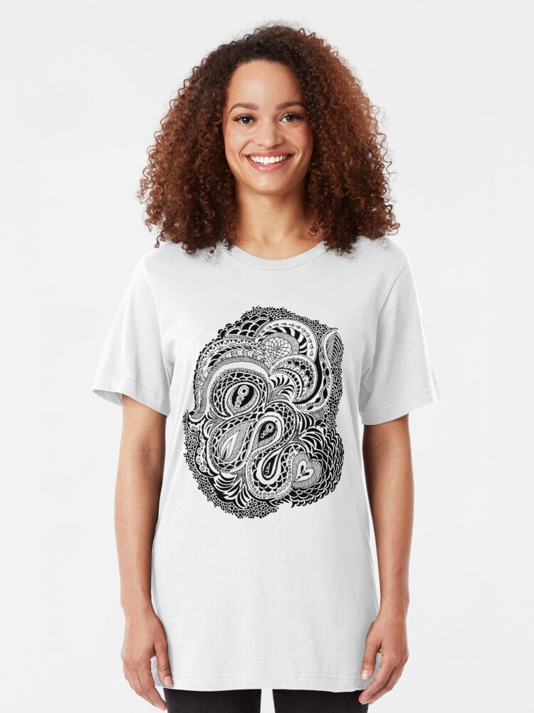 Alternate view of Happy Thoughts Tee Slim Fit T-Shirt