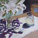 Lilliums and Teaset by Libby Yee