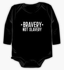 TAPFERKEIT NICHT SLAVERY Langärmeliger Einteiler