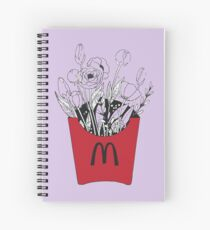 Flowers in McDonalds fries pack Spiral Notebook