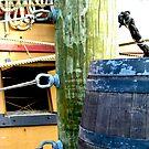 Ship and Barrel (2) by sadeyedartist