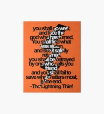 Percy Jackson And the Olympians The Lightning Thief Prophecy Art Board