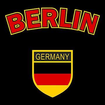Berlin, Germany, black background by Alma-Studio