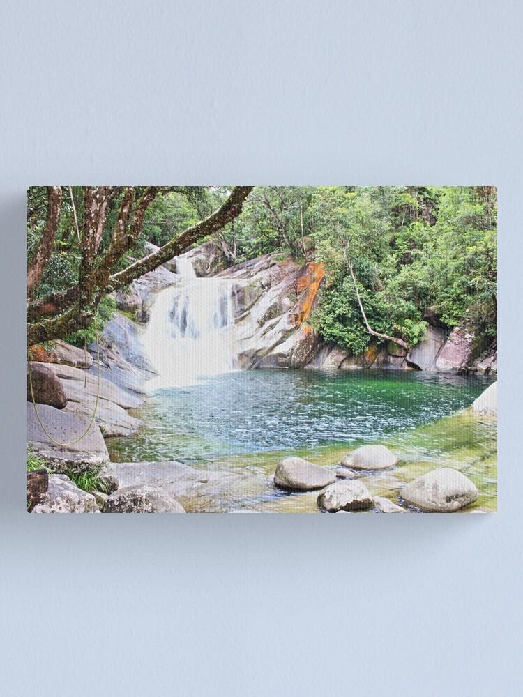 Alternate view of Cascading Josephine Falls Canvas Print