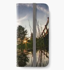 Sunset from the reeds  iPhone Wallet/Case/Skin