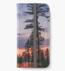Tall pines sunset  iPhone Wallet/Case/Skin