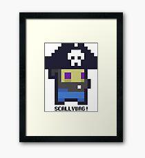8bit Pirate Framed Print