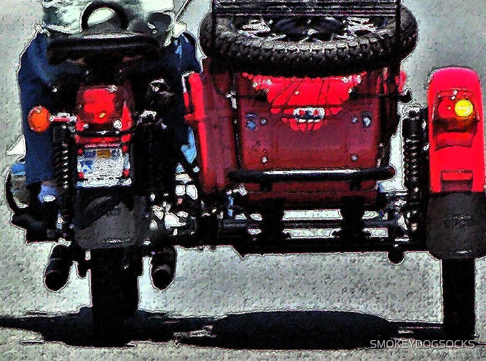 WITH A RED SIDE CAR by SMOKEYDOGSOCKS