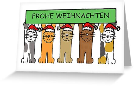 E Cards Weihnachten.Frohe Weihnachten German Happy Christmas Cats Greeting Card By Katetaylor