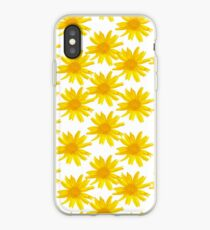 Floral pattern yellow iPhone Case