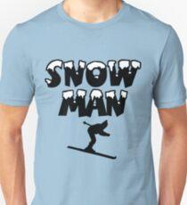 Snowman Snow Ski Skier Skiing Unisex T-Shirt
