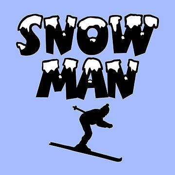 Snowman Snow Ski Skier Skiing by theshirtshops