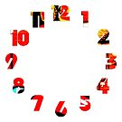Graffiti 19 Numbers Overlay Wall Clock by Alan Harman