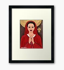 RED MOTHER MARRY Framed Print