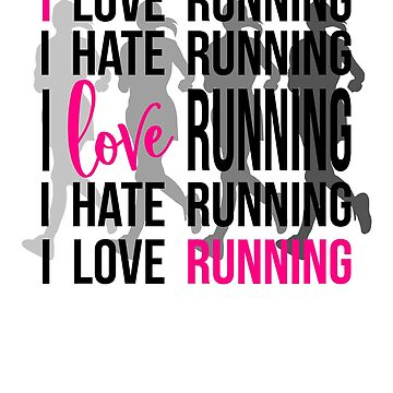 Funny Marathon Run - Motivation * I love Running * T-Shirt I Gift idea by KokoLaroche