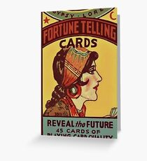 Fortune telling card Greeting Card