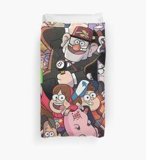 Gravity Falls and Friends Duvet Cover