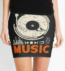 Music Music Record Player DJ Gift Mini Skirt