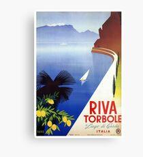 Travel Italy 1920s Lake Garda Riva Torbole Gardesana advert Metal Print