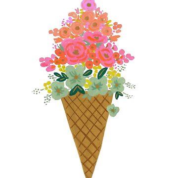 Ice cream flower by ghjura