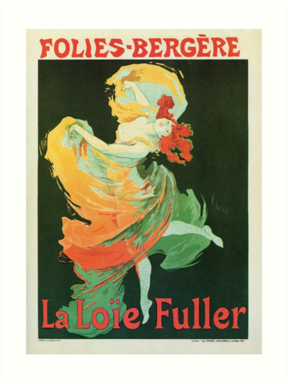 Art nouveau ballet dance La Loie Fuller by Cheret by aapshop