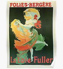 Póster Danza de ballet Art Nouveau La Loie Fuller de Cheret