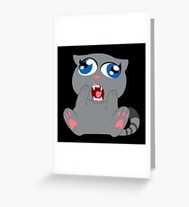 The scared cat Greeting Card